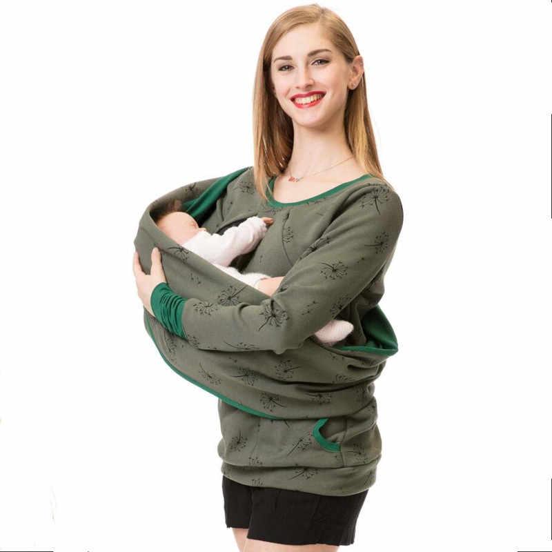 Sudadera con capucha de maternidad + chaqueta bufanda invierno otoño ropa de embarazo mujeres embarazadas lactancia suéter camisetas Top