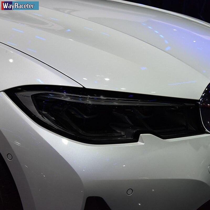 Защитная пленка для автомобильных фар, Прозрачная черная наклейка из ТПУ для BMW F30, F10, G30, G20, G32, F07, G11, F15, F16, G01, G02, G05, G06, F48, F25