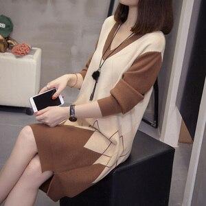 Image 5 - PLUSขนาดArgyle Pulloversเสื้อกันหนาวผู้หญิงแฟชั่นคอVคอชุดวินเทจVINTAGE Patchwork Ladyถัก