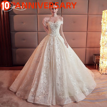 OllyMurs Luxury Wedding Master Daughter Shoulders Hand-embroidered Rose Pattern Design Pregnant Women Fat Wedding Dress black rose embroidery pattern patchwork design dress