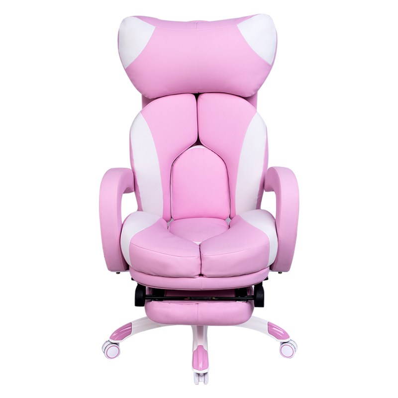 Simple And Modern Chair Comfortable Fashion Pink Computer Chair Home Game Chair Live Cute Lifting Swivel Chair