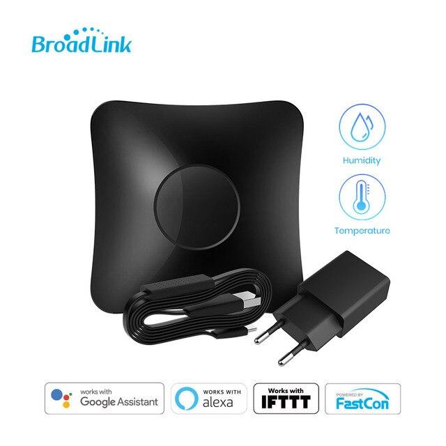 BroadLink RM4 Pro Wi Fi Smart Universal Remote Hub with HTS2 Temp and Humidity Sensor Smart Home Set