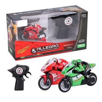Cool Mini Moto para niños, motocicleta eléctrica con Control remoto, coche RC, mini motocicleta recargable 2,4 Ghz, Moto de carreras de juguete para niños y adultos