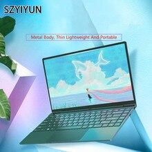 14'' Fashion Retro Dark Green Metal Laptop 16G i7-6500U Slim Mini Portable Gamin