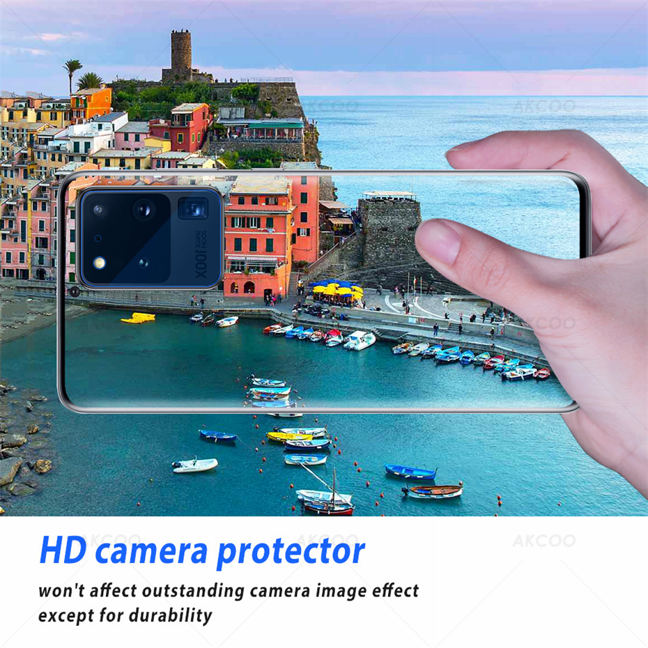 Akcoo S20 Anti-Scratch Flexible Glass Camera lens Protector HD Transmittance for Samsung Galaxy S20 Plus Camera 12