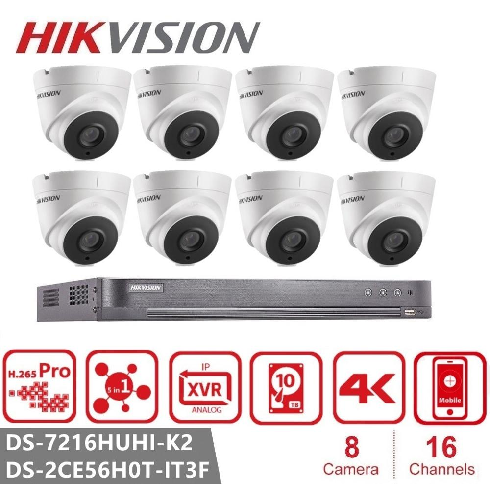 <font><b>Hikvision</b></font> <font><b>16CH</b></font> 5MP HD POE <font><b>DVR</b></font> Kit CCTV Sicherheit System Outdoor P2P Video Überwachung Set DS-2CE56H0T-IT3F image