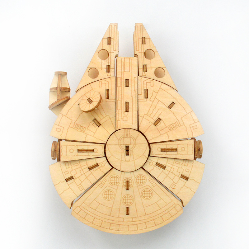 Laser Cutting  Star Wars Toys 3D Wooden Puzzle Toy Assembly Model Wood Kits Desk Decoration For Children