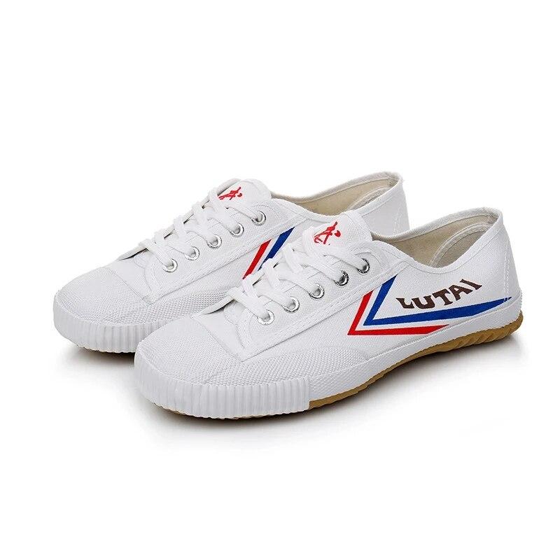 USHINE EU26-46 Canvas KungFu Shoes Martial Arts TaiChi Taekwondo WuShu Karate Sports Shoes Sneakers Shoes Children Adults