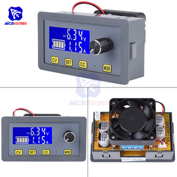 diymore LCD Digital DC-DC 6 -32V to 0 5A Step Down Buck Converter Power Supply Module with Fan Adjustable Voltage Regulator - discount item  12% OFF Active Components