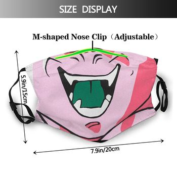 Máscara reutilizable de Buu DBZ Dragon Ball Mascarillas de Anime Mascarillas Dragon Ball Merchandising de Dragon Ball