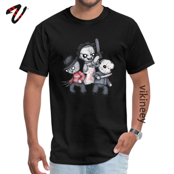 Horror Trifecta Plushie Patriots Fabric Tops T Shirt for Men Printed On T-Shirt Comics Hip Hop T Shirts Undertale Sleeve image