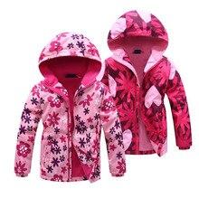 Jacket For Girls 2020 Spring Children's Flower Fleece Clothes Girls Coat Windbreaker Outerwear Kids Polar Fleece Windproof 3-12T