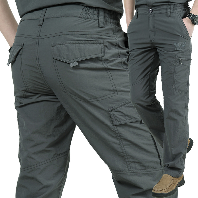 Pants Men Lightweight Breathable Quick Dry Pants Men Summer Casual Military Trousers Tactical Cargo Pants Waterproof Trousers