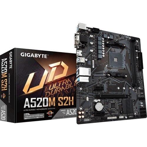 Gigabyte GA-A520M-S2H amd a520 5100mhz (o. c.) Nv até 3.0 ddr4 socket am4 matx placa-mãe peças do pc, mineiro placa-mãe interface baixa