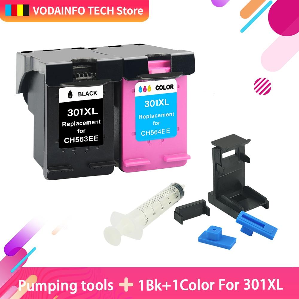 Substituição para hp 301 cartuchos de tinta hp 301 QSYRAINBOW xl Deskjet 1000 1050 1510 2000 2050 2050S 2510 2540 3050a impressora 3054