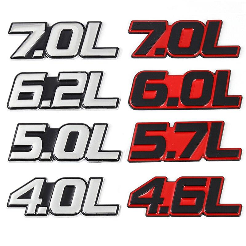 1Pcs Metal LS6 5.7L V8 Discharge Standard Car Trunk Lid Sticker Badge Emblems