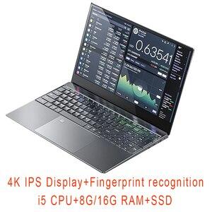 15.6 inch Gaming Laptop i5 8G/16G RAM 1TB/128G/256G/512G SSD Notebook Computer Laptop 4K IPS Display Fingerprint recognition(China)