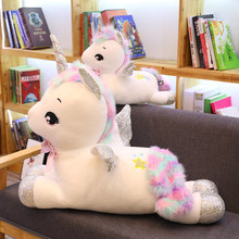 Giant  Unicorn Stuffed Plush Animals Rainbow unicorn Kawaii Baby Soft Toy Kids Toys For Childrens Room Decoration Doll