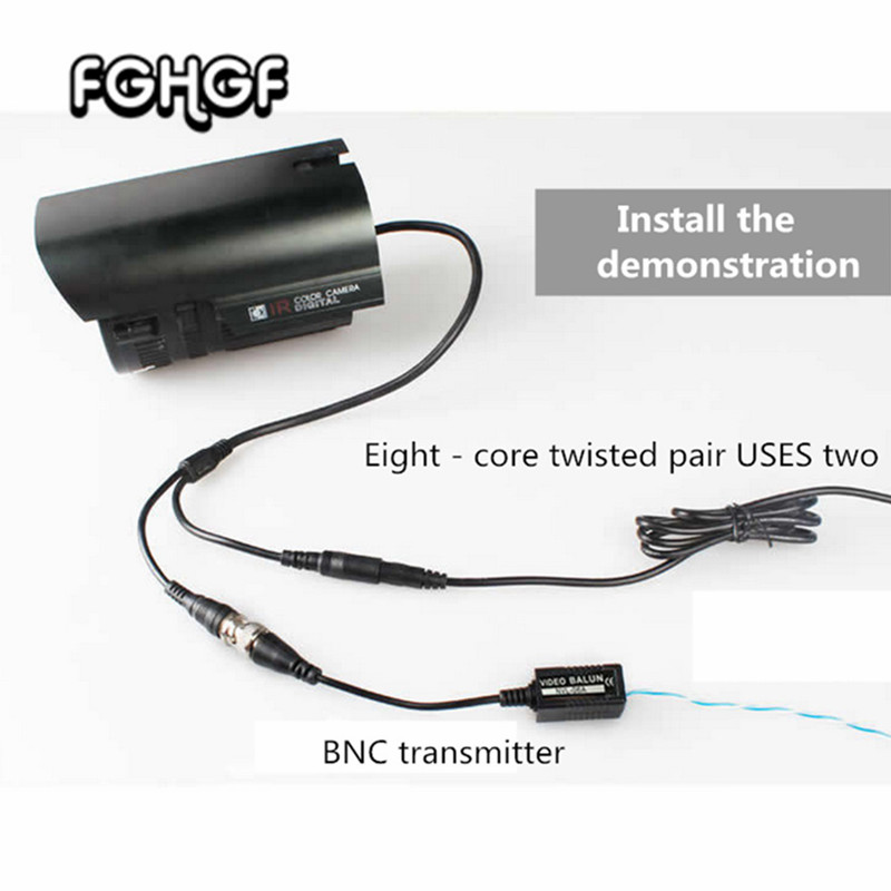 10pairs/lot Monitor Pure Copper BNC Transfer Connection Passive Double Strand Video Transmitter Monitor Connection