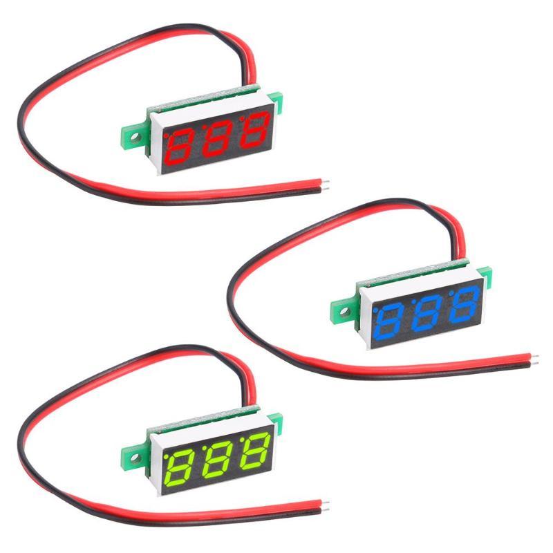 0.28 Inch Small Digital Direct Voltage Gauge Head Adjustable 2 Line DC4-30V