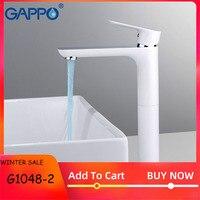 Gappo torneira da bacia do banheiro misturadores torneira de água branca torneiras da bacia cachoeira deck montado G1048-2 G1048-31