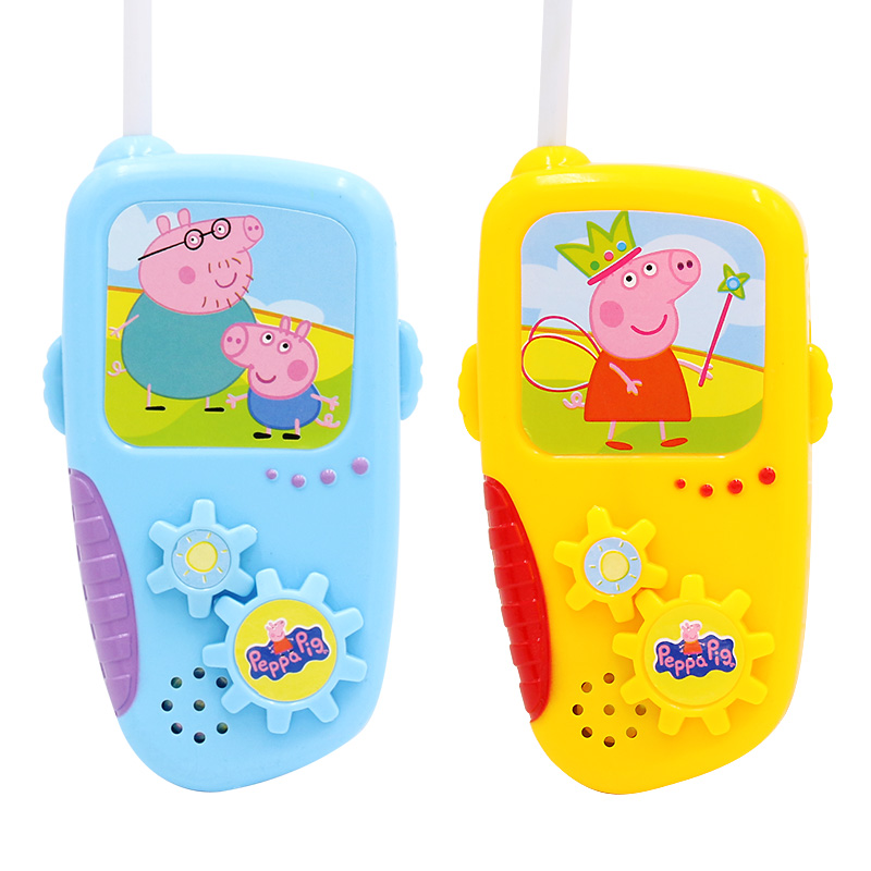 Children's Toy Peppa Pig Walkie Talkie Parent-child Interactive Games Educational Cartoon Toys Kid Birthday Gift Party Props