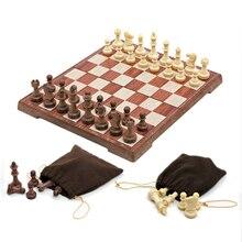 Складной Международный шахматный набор штук набор смешная настольная игра Шахматная коллекция переносная доска дорожные игры