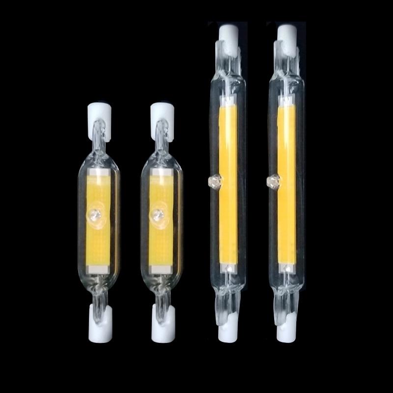 LED R7S Glass Tube COB Bulb 78MM 20W 118MM 40W R7S Corn Lamp J78 J118 Replace Halogen Light 50W 90W AC 220V 230V Lampadas(China)