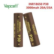 Vapcell 18650 P30 3000Mah 20A/35A 3.7V Oplaadbare Li Ion Batterij Vergelijkbaar Als HG2/VTC6 Lange levensduur Voor Tool/Zaklampen