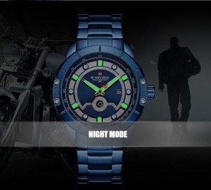 Image 5 - Relojes deportivos para hombre de marca de moda NAVIFORCE, relojes de pulsera militares de acero inoxidable de cuarzo para hombre, reloj Masculino