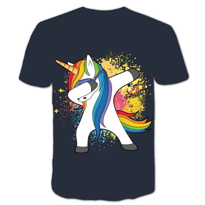 Hef4efae993fd4f1898fc3c1273826f99n Baby Girls T-shirt 4 5 6 7 8 9 10 11 12 13 14 Years Unicorn Kids T Shirt Children Clothes Summer Unicorn T shirts Girl s Tee