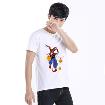 Summer Fashion Men's T Shirt Casual Halloween Short Sleeve T Shirt Mens Clothing Trend Casual Slim Fit Hip-Hop Top Tees 6XL image