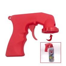 Universal aerosol spray gun handle plastic Paint Spray adaptor Full Grip Handle Trigger Airbrush For Car Paint Care Polish Tools cheap Halojaju Paint Decorating Combination Z1807-BB30-691 Car Repair Tool as show spray adaptor paint paint gun sprayer Car paint tools