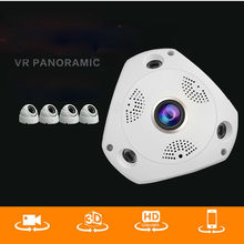 CCTV Security IP 1.3MP/3MP/5MP Audio Camera NighVision WIFI IP VR 3D Fisheye Camera 360 Degree Wide Range Panoramic(China)