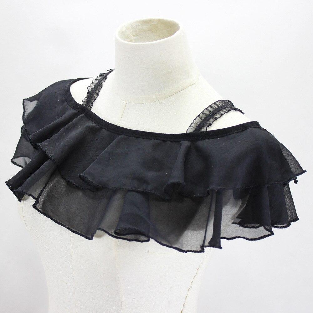 Double Decorative Lead Jacket Decorative Lead Rolls Detachable Fake Collar Necklace Shirt Women New Free Shipping Wholesale