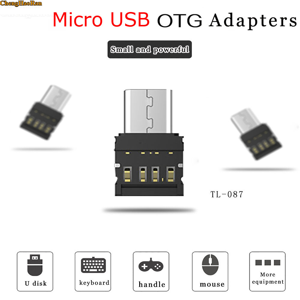 1pcs Micro USB Adapter OTG Multi-function Converter USB Interface To  Micro USB Transfer Interface For Data Cables Card Reader