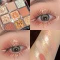 9 Colors Glitter Eyeshadow Palette Eyeshadow Palette Pearlescent Matte Earth Color Eyeshadow Makeup Waterproof Cosmetics