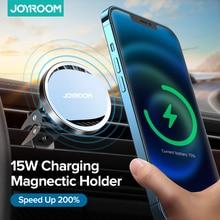 Joyroom15w qi magnético carregador de carro sem fio suporte do telefone para o iphone 12 pro max carregamento sem fio suporte do telefone do carro para o iphone 12