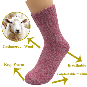 Image 5 - 5 Pairs/Lot Wool Socks Women Winter Harajuku Japanese Bohemian Cashmere Warm Socks Ladies Girl Christmas Gift