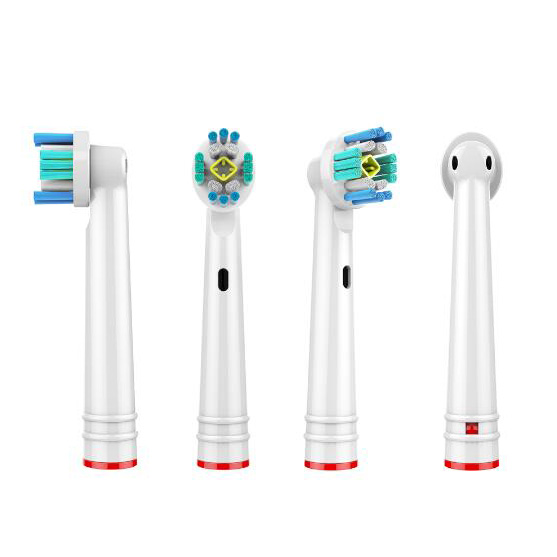 4 Pcs replacement brush heads for Oral B electric toothbrush before power/Pro health/Triumph/3D Excel/Clean precision vitality image