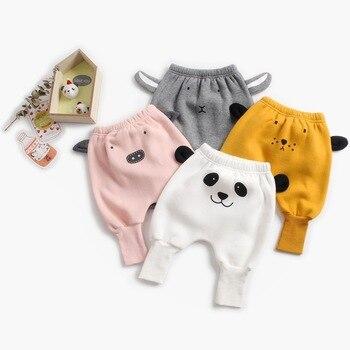 ¡Nuevo estilo de otoño e invierno 2020! Pantalones bonitos de terciopelo grueso y cálido para bebés recién nacidos