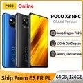 Глобальная версия POCO X3 NFC 6 Гб 64 Гб/128 Гб мобильный телефон Snapdragon 732 Octa Core 64MP Камера 120 Гц DotDisplay 5160 мА-ч