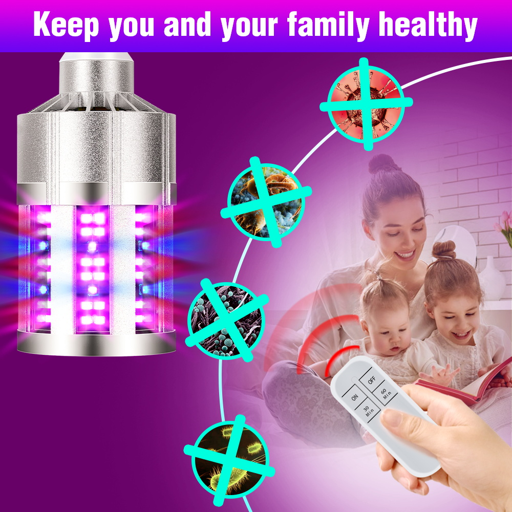 UV Disfecting Light Sterilizer Led UVC Germicidal Lamp E27 Led 220V Ultraviolet Ozone Corn Bulb 9 18Leds Bactericidal Lamp 280nm