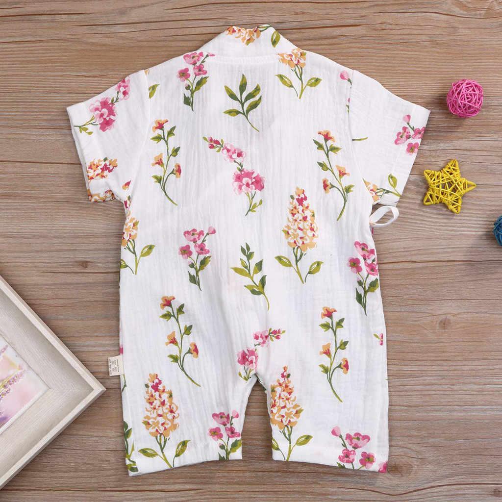 Pasgeboren Baby Baby Boy Meisjes Cartoon Garen Robe Kimono Romper Jumpsuit Nachtkleding Casual Zomer Pasgeboren Kleding Roupa Infantil