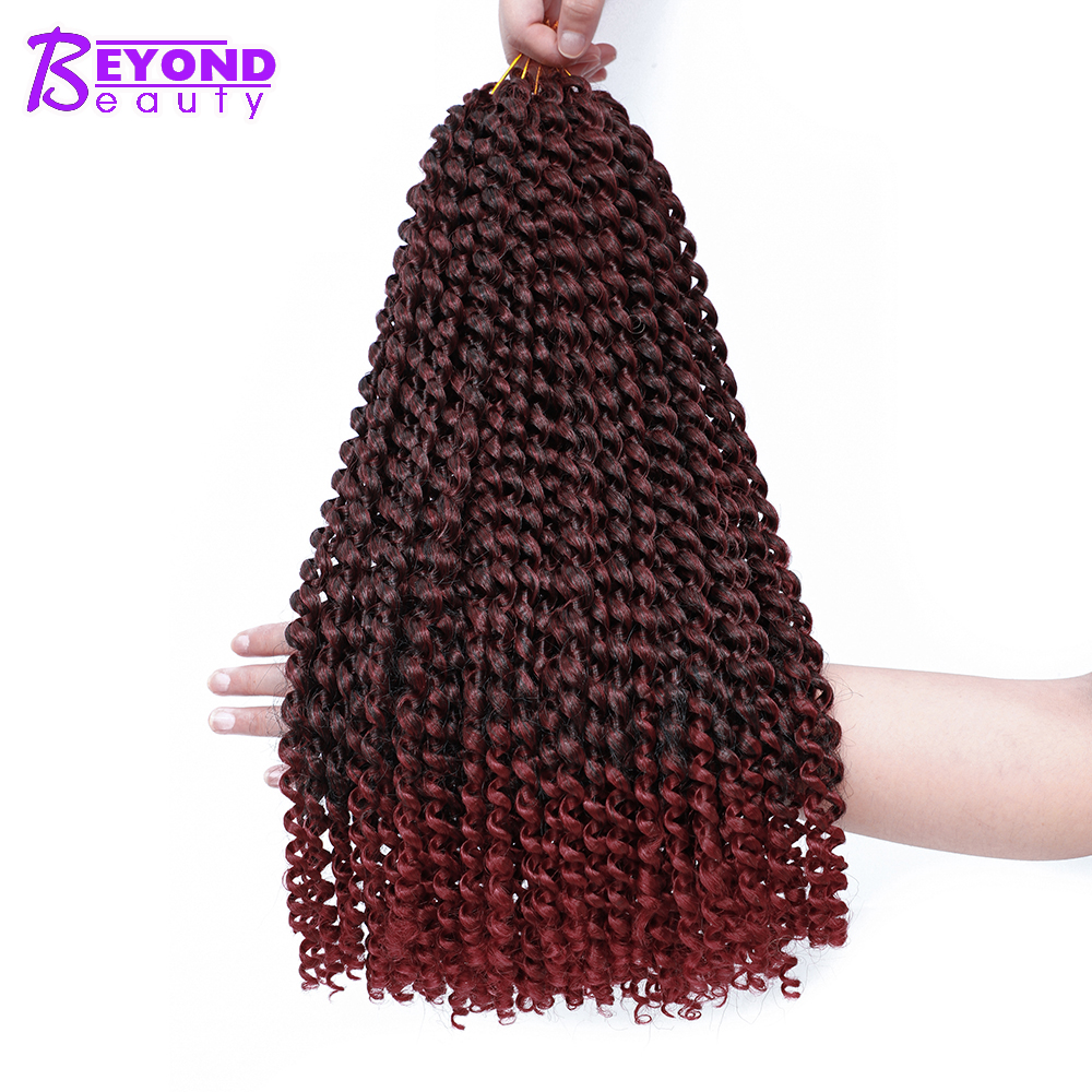 Passion Twist Crochet Braids Hair 18Inch Fluffy Pre Twist Hair Locs Synthetic Ombre Braiding Hair Extensions 22 Strands image
