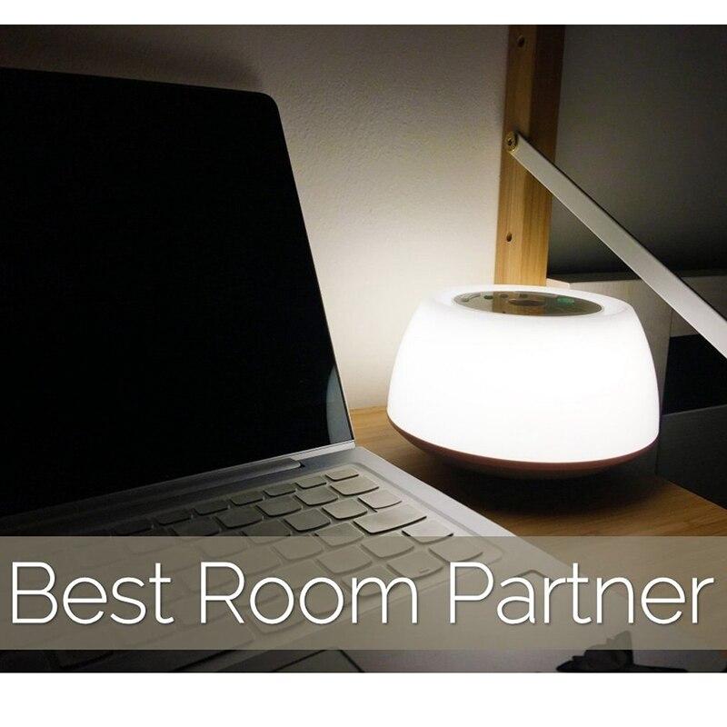 acorde luz despertador funcao de relogio sono auxiliar lampada de cabeceira nivel 3 brilho 8 sons