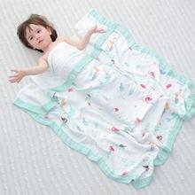 Детское муслиновое одеяло из бамбука четырехслойное детское