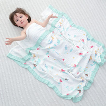Four Layer Bamboo Baby Muslin Blanket Muslin Tree Swaddle Better Than Aden Anais