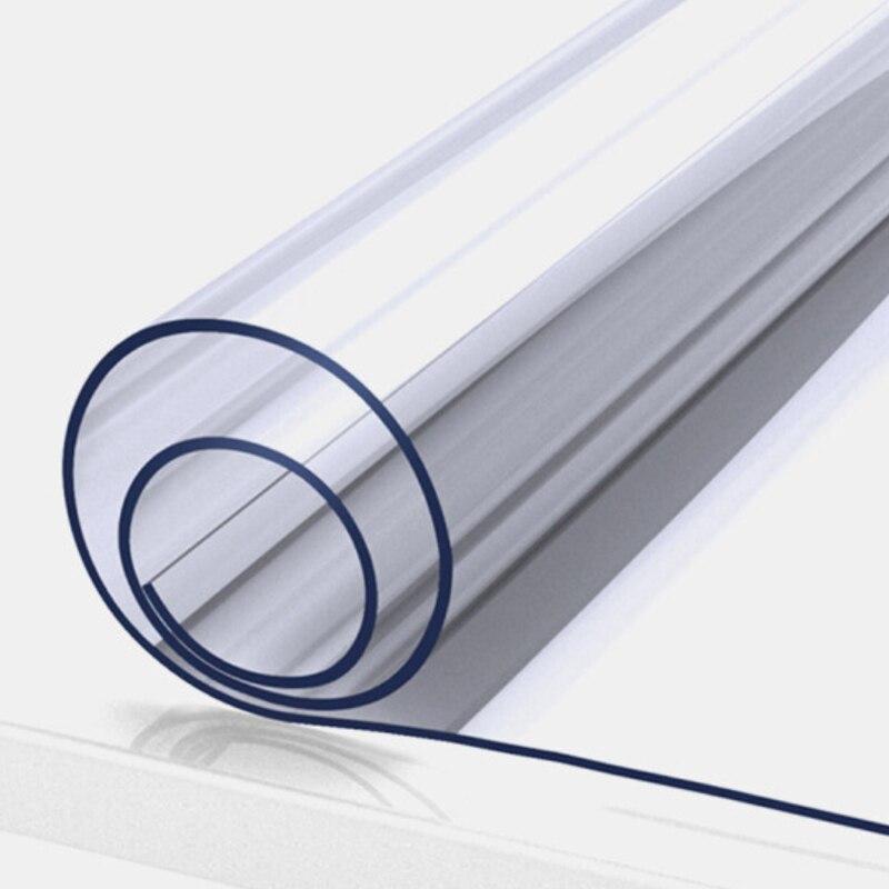 ZXQWA1mm ПВХ прозрачная скатерть водостойкая прямоугольная накладка на стол коврик кухонный узор маслостойкая Скатерть мягкая стеклянная тка...