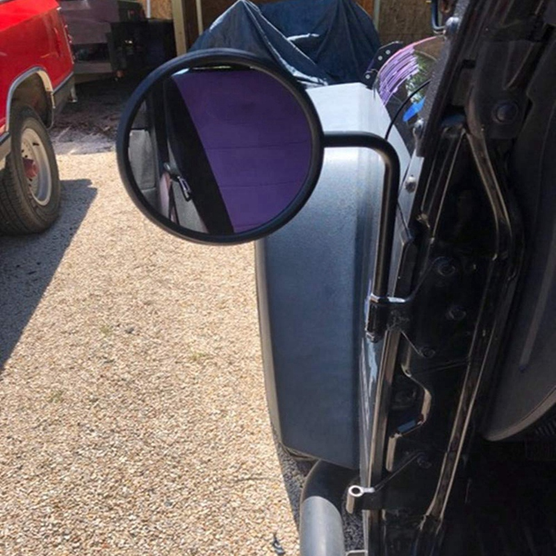 Doorless Quick Release Round Mirror Door Off 1997-2017 2018 for Jeep Wrangler JK